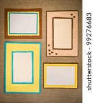 the four frames of colored paper | Shutterstock . vector #99276683