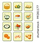 colorful realistic chinese food ... | Shutterstock .eps vector #99281177