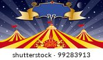 circus big top in the night.... | Shutterstock .eps vector #99283913