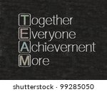 team meaning written on blackboard background, high resolution - stock photo