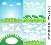 trees background   Shutterstock .eps vector #99291773