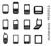 various cell phones and tablets | Shutterstock .eps vector #99293513