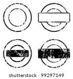 rubber stamp template set - stock vector