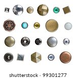set of different jeans buttons  ... | Shutterstock . vector #99301277