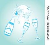 champagne | Shutterstock .eps vector #99306707