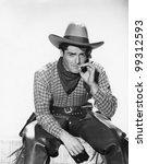 Cowboy With A Cowboy Hat...