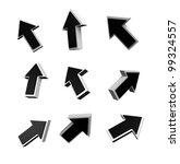 arrow sign icon | Shutterstock . vector #99324557
