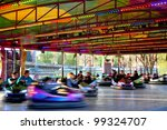 Bumper Cars - stock photo