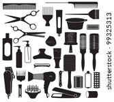 hairdressing related symbols 1 | Shutterstock .eps vector #99325313