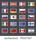 vector world flags as stamps | Shutterstock .eps vector #99337337
