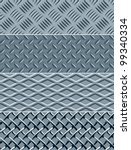 Four Metal Textures Seamless Patterns. Vector version - stock vector