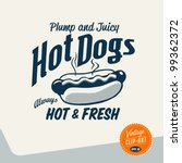 Vintage Clip Art - Hot Dog - Vector EPS10. - stock vector