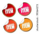 item recommended stickers | Shutterstock .eps vector #99364373