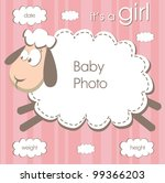 frame for a newborn girl with a ...