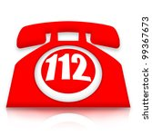 112 emergency phone | Shutterstock . vector #99367673
