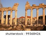 Baalbek ruins - Bekaa Valley, Lebanon - stock photo