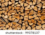 Stack Of Firewood   Wooden...