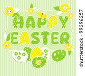 easter in scrapbook style... | Shutterstock . vector #99396257