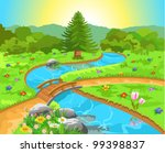 nature landscape with water... | Shutterstock .eps vector #99398837