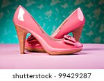 Close up shot of a pair of High Heels - stock photo