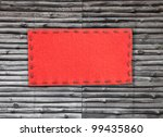 red label on old wood - stock photo