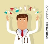 vector illustration with doctor | Shutterstock .eps vector #99444677