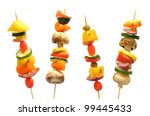 Vegetable Kebabs With Peppers ...