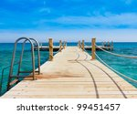 jetty into the blue | Shutterstock . vector #99451457