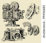 Cameras Hand Drawn
