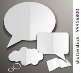 Cut Out Speech Bubble - stock vector