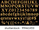 english alphabet | Shutterstock . vector #99461453