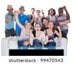 young teenagers going crazy in... | Shutterstock . vector #99470543