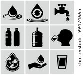 Water related icons set. - stock vector