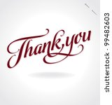 'thank you' hand lettering  ... | Shutterstock .eps vector #99482603