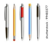 set of vector pen and pencil | Shutterstock .eps vector #99483377