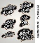 vector set of label | Shutterstock .eps vector #99508133
