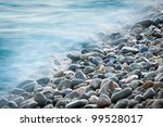Pebble Stones By The Sea. Silk...