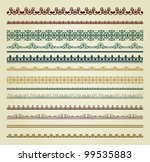 set of vintage borders. could... | Shutterstock . vector #99535883