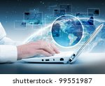 computer communication collage | Shutterstock . vector #99551987