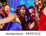 group of party people   a man... | Shutterstock . vector #99557213