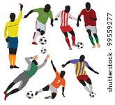 soccer players collection.vector | Shutterstock .eps vector #99559277