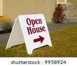 a close up on a sign in front... | Shutterstock . vector #9958924