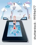 cloud computing concept. a... | Shutterstock .eps vector #99596477