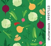 vegetable seamless  pattern | Shutterstock . vector #99597113