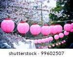 Japanese Lanterns On Cheery...