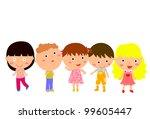 kids | Shutterstock .eps vector #99605447