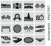 racing and speed related icons... | Shutterstock .eps vector #99627557
