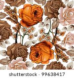 roses classic pattern....