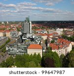 Stock photo center of hannover germany seen from the new town hall neues rathaus 99647987