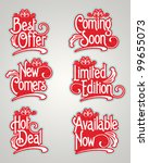 vintage label vector set | Shutterstock .eps vector #99655073